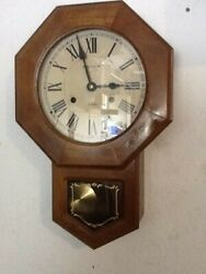 Vintage Royal Time Line 31 Days Windup Chime Pendulum Schoolhouse Wall Clock
