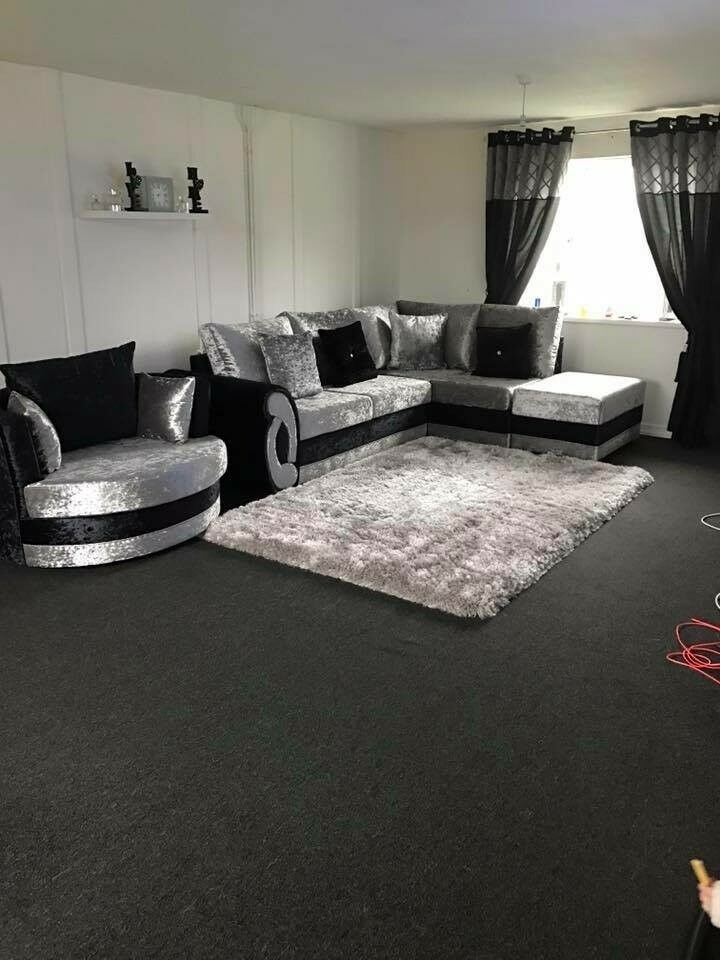 sports shoes 91cef 813ab Crushed velvet corner sofa and swivel chair | in Beck Row, Suffolk | Gumtree