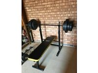 Bench with weights - 60KG