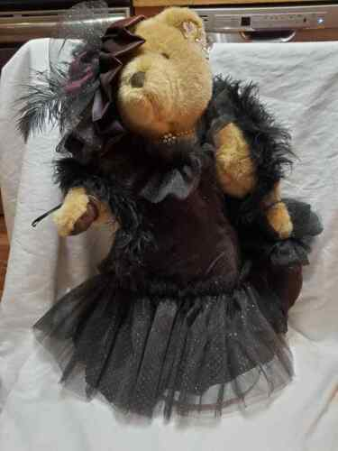 Bearly People 1987 Teddy Bear With Stand