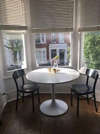 Contemporary Ikea white dining table - perfect condition (Urgent)