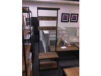 Hiba solid pine hall stand , wood/metal