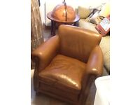 Leather armchair (John Lewis)