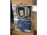Ps2 steering wheel and speaker system