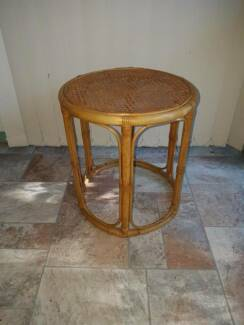 Cane round side table