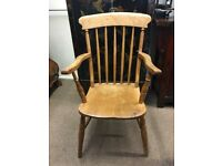 Windsor stick back elbow chair