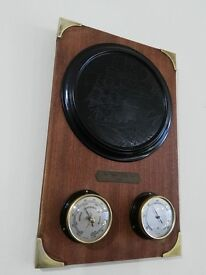 Unique And Restored Thermometer and Barometer