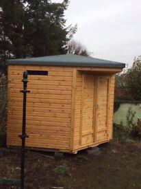 9ft x 9ft Wooden Corner Garden Shed