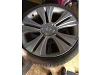 22 inch low profile alloys and tyres