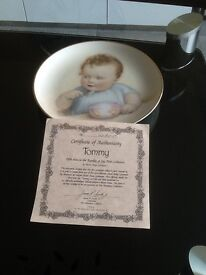 Collection of six Bessie Gutmann plates with certificates