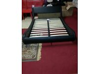 brand new Galaxy Black Faux Leatherdouble Bed