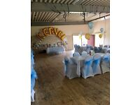 Black or White CHAIR COVER & Sash 90p / Centerpieces £5 / Balloon Packages £48!!! London Essex Kent