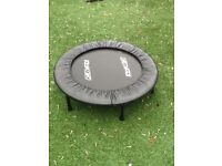 Small indoor/outdoor trampoline.