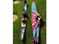 Kidder redline graphite water ski plus bag