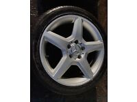 MERCEDES C180 AMG ALLOYS WITH TYRES