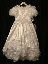 Communion dress with underskirt immaculate condition £100