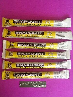 LOT OF 8 Cyalume Red Light Sticks 12 Hour Industrial Grade PREPPER BUG OUT EMP