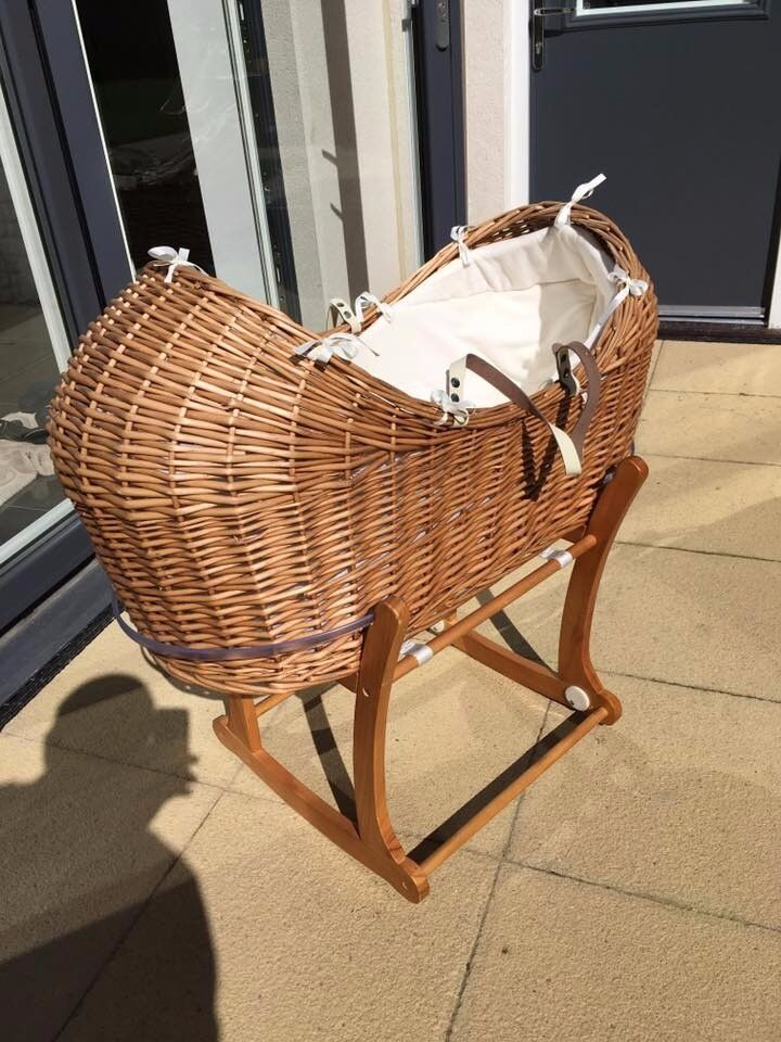 Moses Basket complete with Rocker