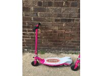 Girls Pink Electric Razor Scooter with charger E90