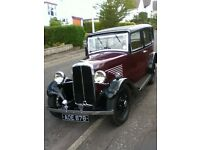1934 BSA 10hp saloon. Mulliner body, burgundy over black. Taxed and on the road