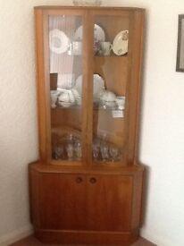 China display corner cabinet.