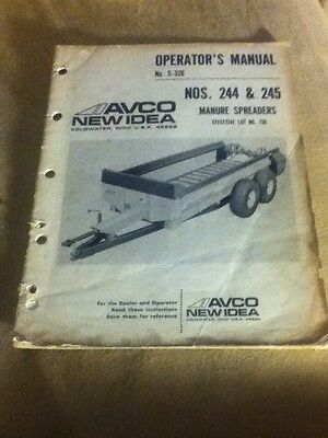 986256 - Is An Operators Manual For A New Idea 244 245 Manure Spreader