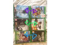 Xbox one games (overwatch, rainbow six, battlefront, just cause 3,)