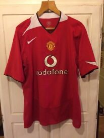 Man Utd Old School Football Top