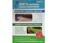 Gardening/pressure washing