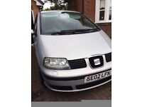 Seat Alhambra 1.9 SE Diesel Manual 4 new tyres ,(FSH) MOT July 25th 2017 Good for Spares.
