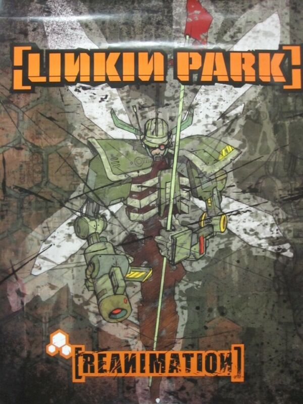 Linkin Park 2002 Reanimation promotional poster Flawless New Old Stock
