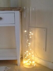 Lovely LSA Tall Vase with Fairy Lights