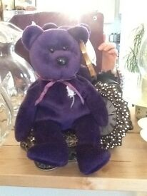 Princess Diana Purple Ty Teddy collectable