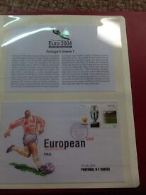 Euro 2004 first day covers