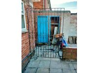 Large heavy outdoor security gate