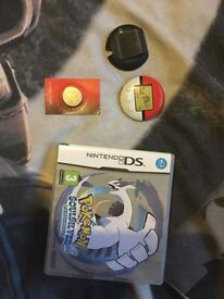 Pokemon Soul Silver DS + Pokewalker & Spare Battery