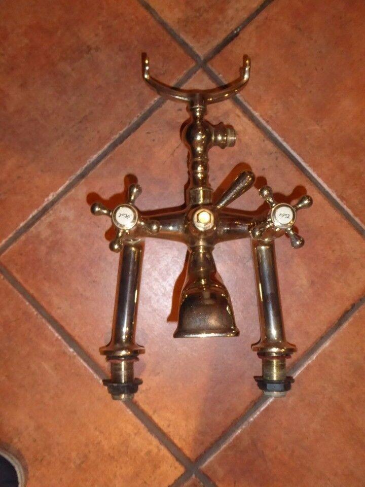 Brass bath and shower mixer taps