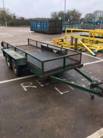 Twin axle Flat bed trailer on coils