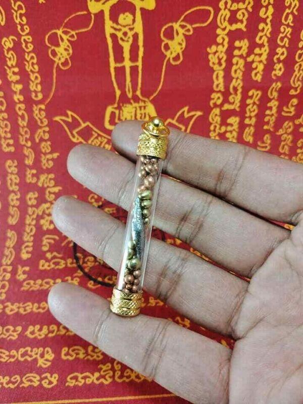 TAKRUT 3 IN 1 LEKLAI SURIYAN RACHA THONG PLA LAI WATCHARATAD THAI BUDDHA AMULET