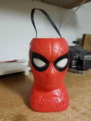 Vintage 1979 Marvel Spiderman Halloween Bucket Blow Mold - Free Shipping