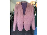RIVER ISLAND Mens Burgundy Jacket size 38