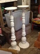 1 Solid timber vintage / retro plant statue lamp stand 120cm tall Nambour Maroochydore Area Preview