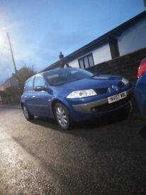 Renault Megane 2007 1.6 72k! MOT 16th July