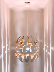 "IKEA ""Death Star"" light fitting, Orange and white, model PS 2014"