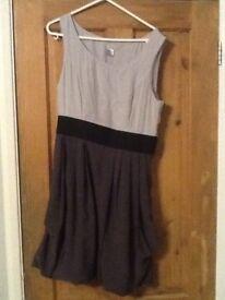 two tone grey dress