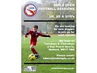 Football training in Watford for U8, U9 & U10