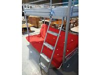 BUNK BED DOUBLE FUTON WITH SINGLE BED ON TOP