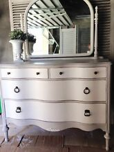 Shabby Chic Dresser - Chest of Drawers - Handpainted -With Mirror Coogee Eastern Suburbs Preview