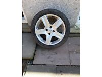 5 x peugot / citroen alloys with tyres