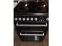 BLACK HOTPOINT SLOT IN 60cm ELECTRIC COOKER, 4 MONTHS WARRANTY, FREE LOCAL DELIVERY